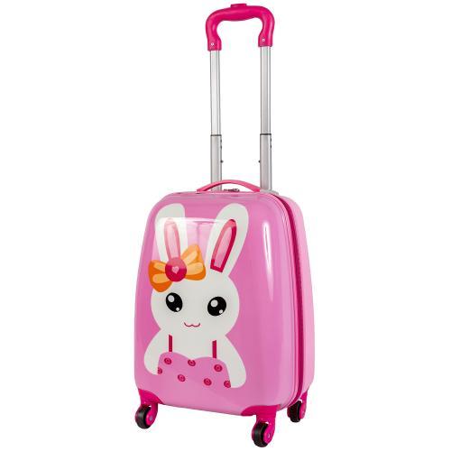 Детский чемодан 4 колеса «Зайчик с бантиком»