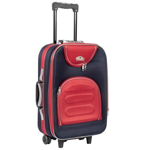 Чемодан Suitcase 801 S+ синий-красный