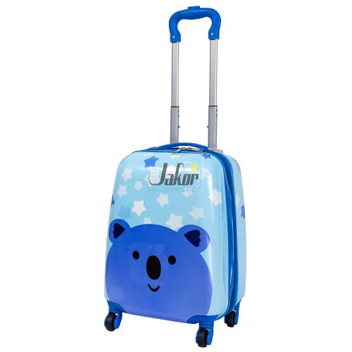 Детский чемодан 4 колеса «Мишка голубой»