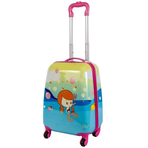 Детский чемодан 4 колеса «Русалка»