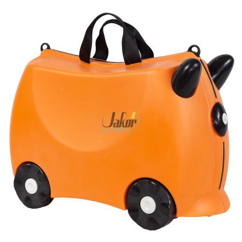 Детский чемодан-каталка на 4 колёсах оранжевый