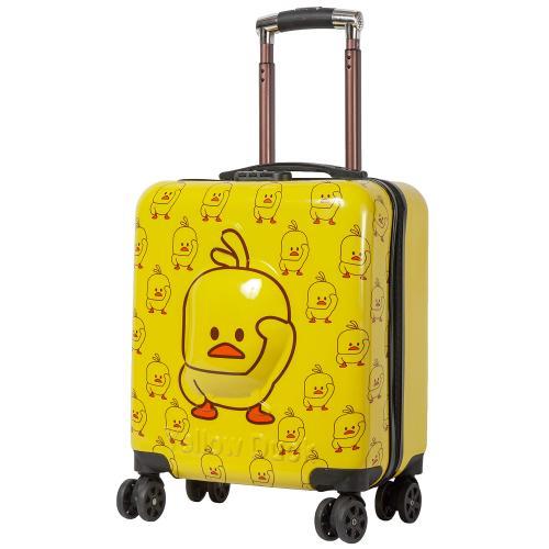 Детский чемодан Little Duck 4 колеса желтый