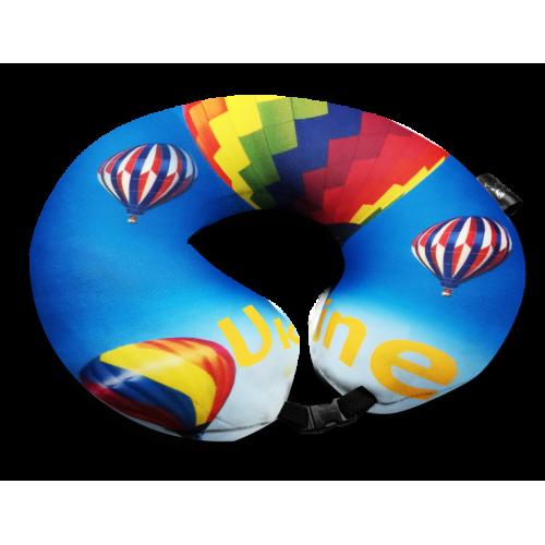Дорожная подушка с рисунком шары