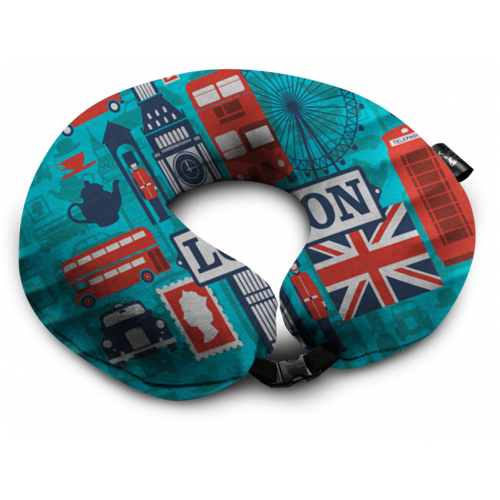 Дорожная подушка с рисунком Лондон