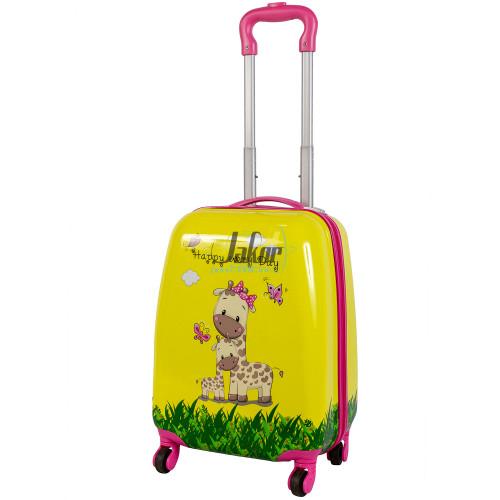 Детский чемодан 4 колеса «Жирафы»