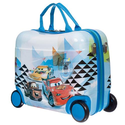 Детский чемодан-каталка на 4 колёсах Тачки
